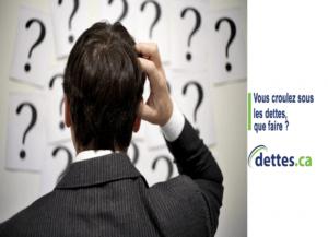 Vous croulez sous les dettes, que faire? par dettes.ca
